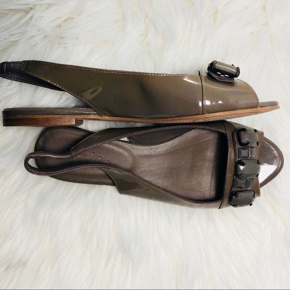 4dbba6b99caa Boden Shoes | Brown Jewled Slingback | Poshmark